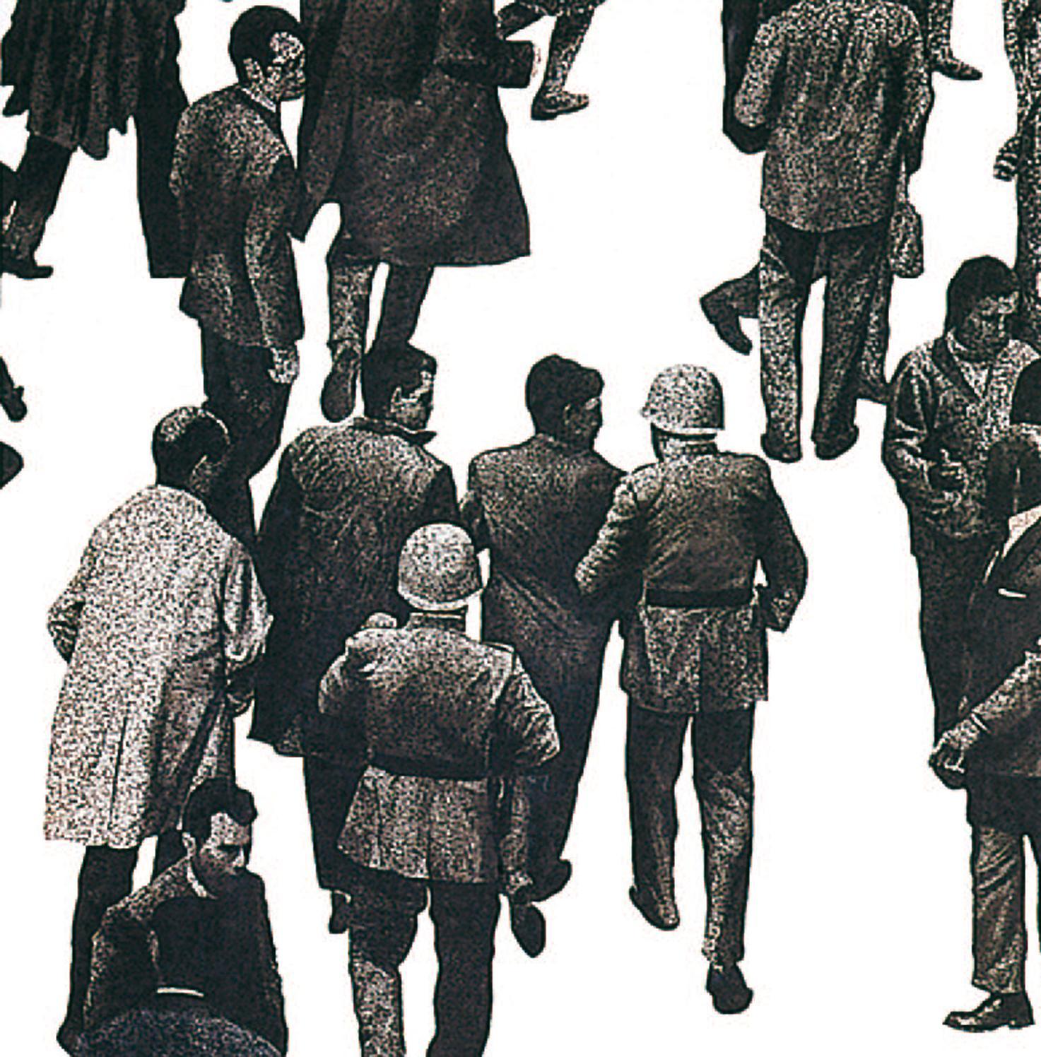 Juan Genovés en la calle, 1975