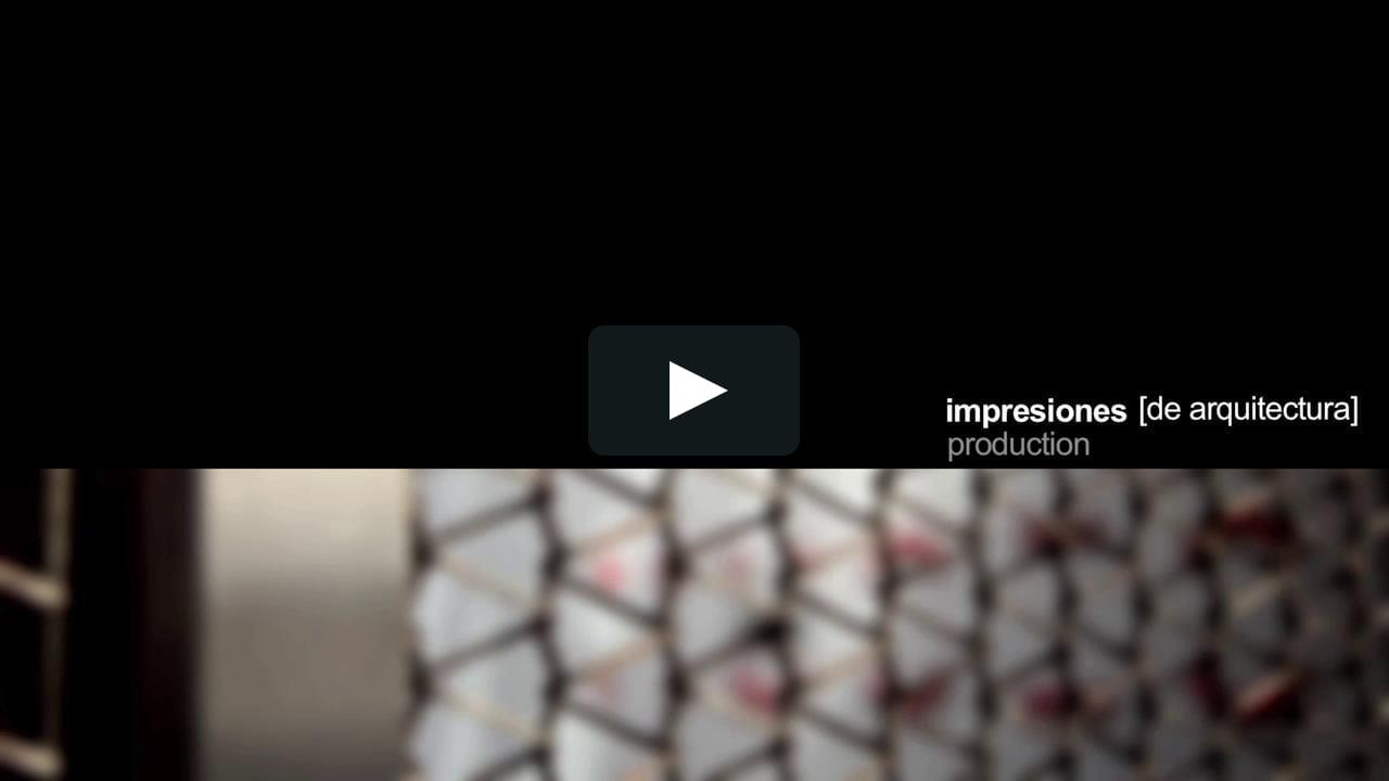 La plataforma multidisciplinar Impresiones [de arquitectura] utiliza el vídeo como herramienta de representación del proyecto arquitectónico. Uno de sus últimos trabajos es una narración del madrileño Museo ABC, de Aranguren y Gallegos.