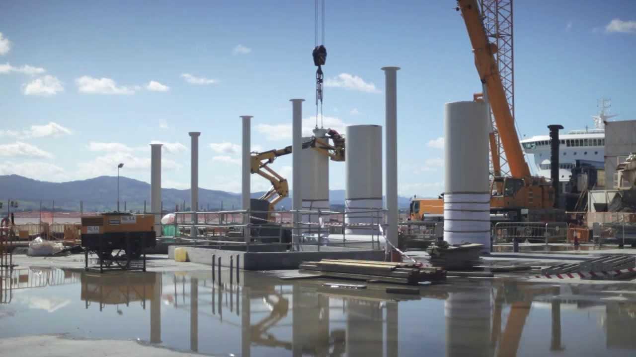 Un vídeo muestra el estado de las obras del Centro Botín, el espacio para el arte que construye Renzo Piano en Santander, cuya apertura está prevista para el verano de 2014.