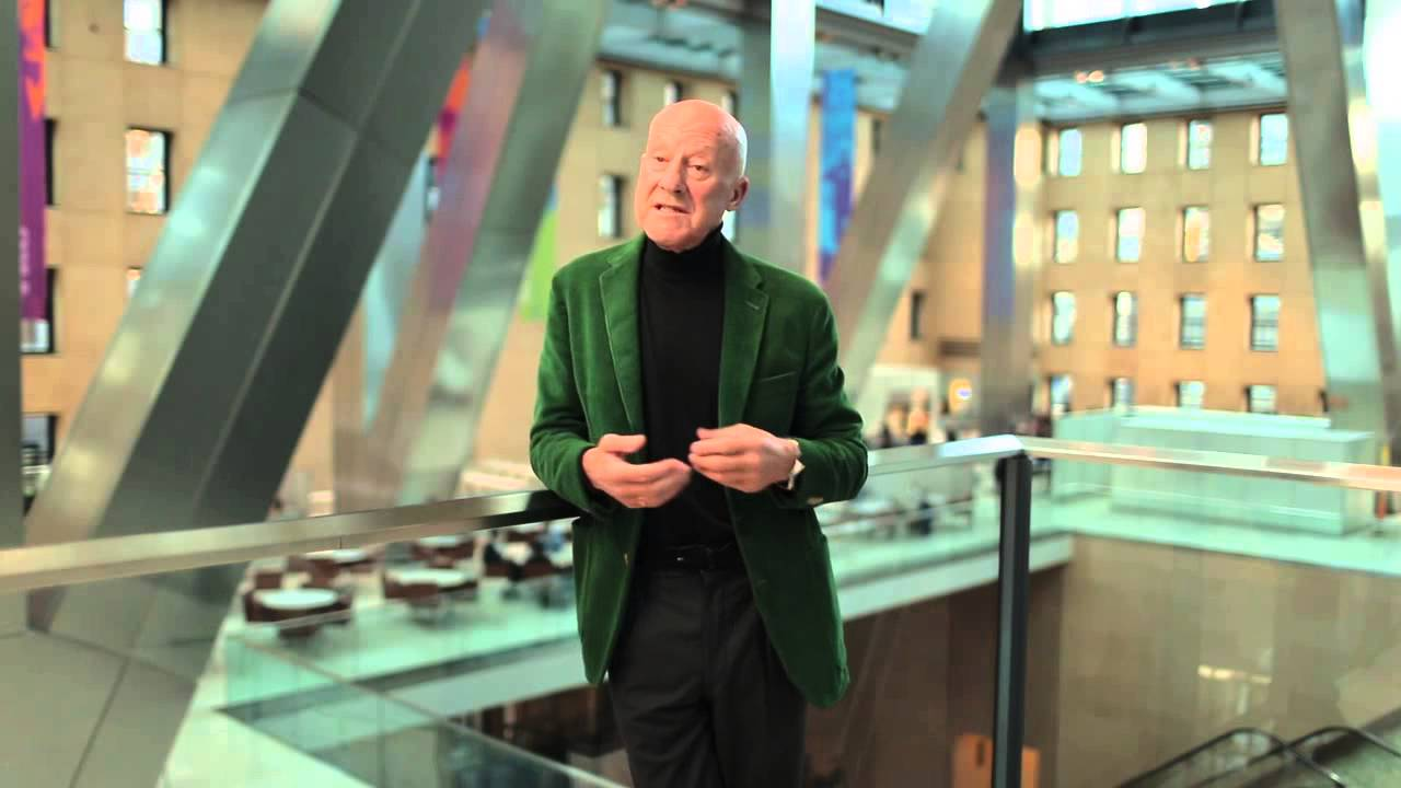 Norman Foster takes us on a drone tour of the Hearst Tower, the skyscraper he built in New York a decade ago.