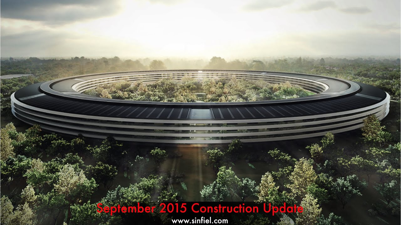 Designed by the firm of Norman Foster, the new Apple Campus in Cupertino, California is underway, as this video taken from a drone shows.