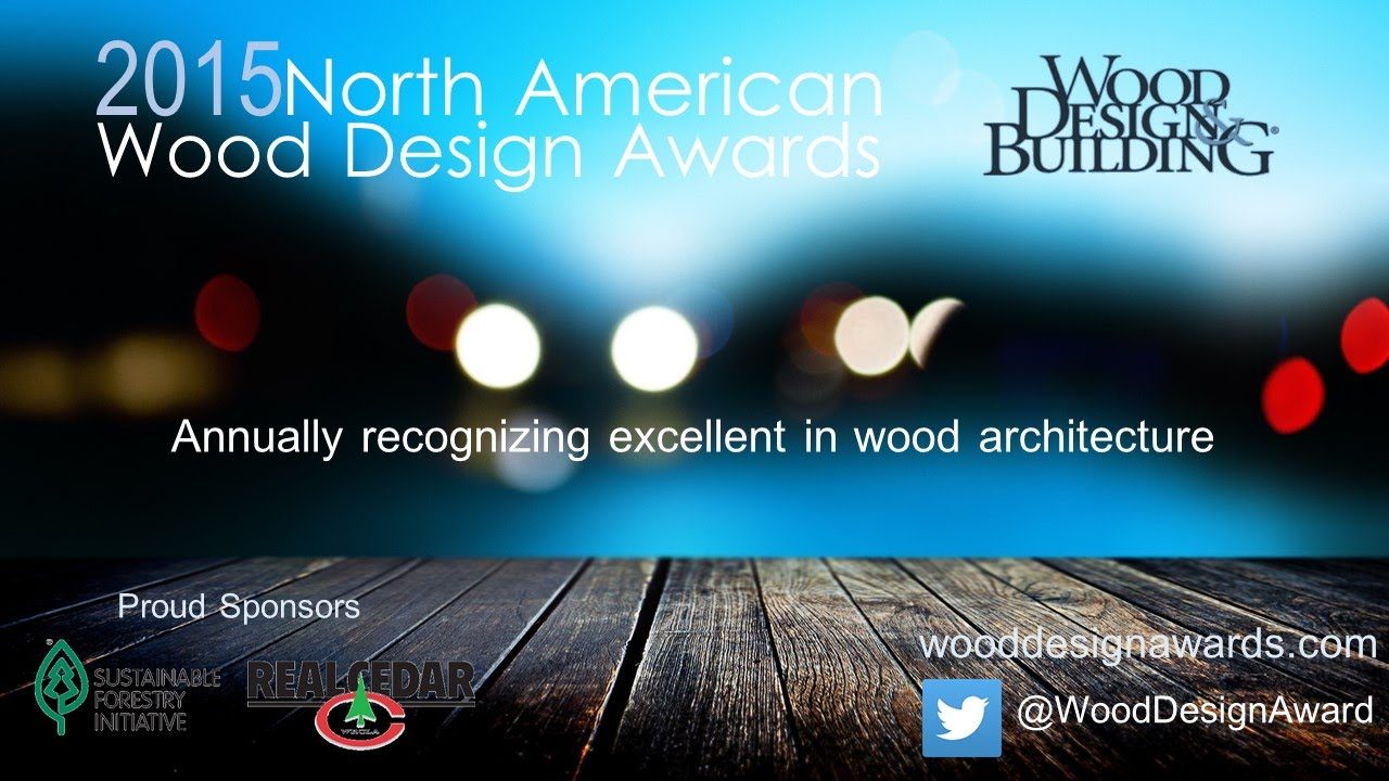 Granted by the Canadian Wood Council and theWood Design & Buildingmagazine, these awards for 2015/16 has been announced. The winners were selected from over 140 entries.