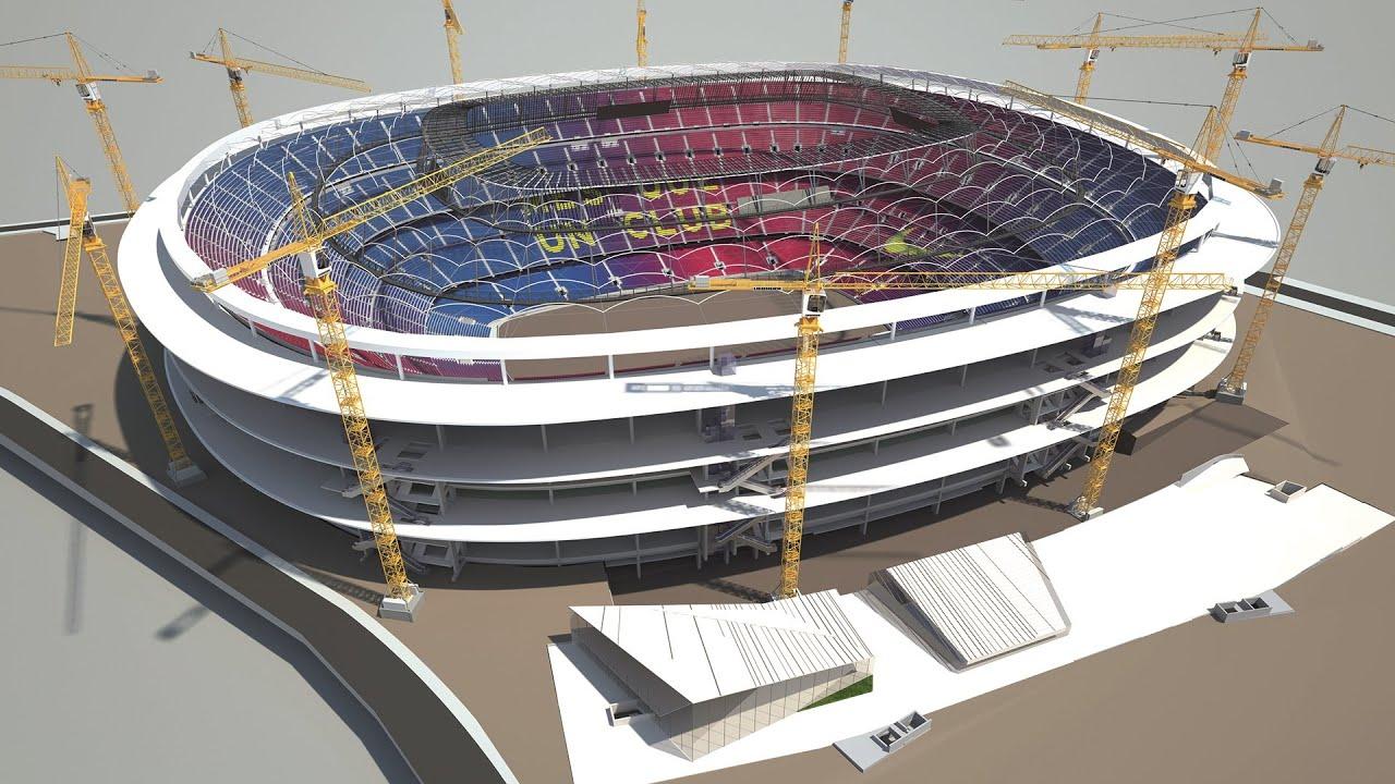 Diseñado por la firma japonesa Nikken Sekkei, con la colaboración de Joan Pascual y Ramon Ausió Arquitectes, el nuevo estadio del F.C.Barcelonase levantará en diferentes fases, sin interrumpir su funcionamiento durante la intervención.