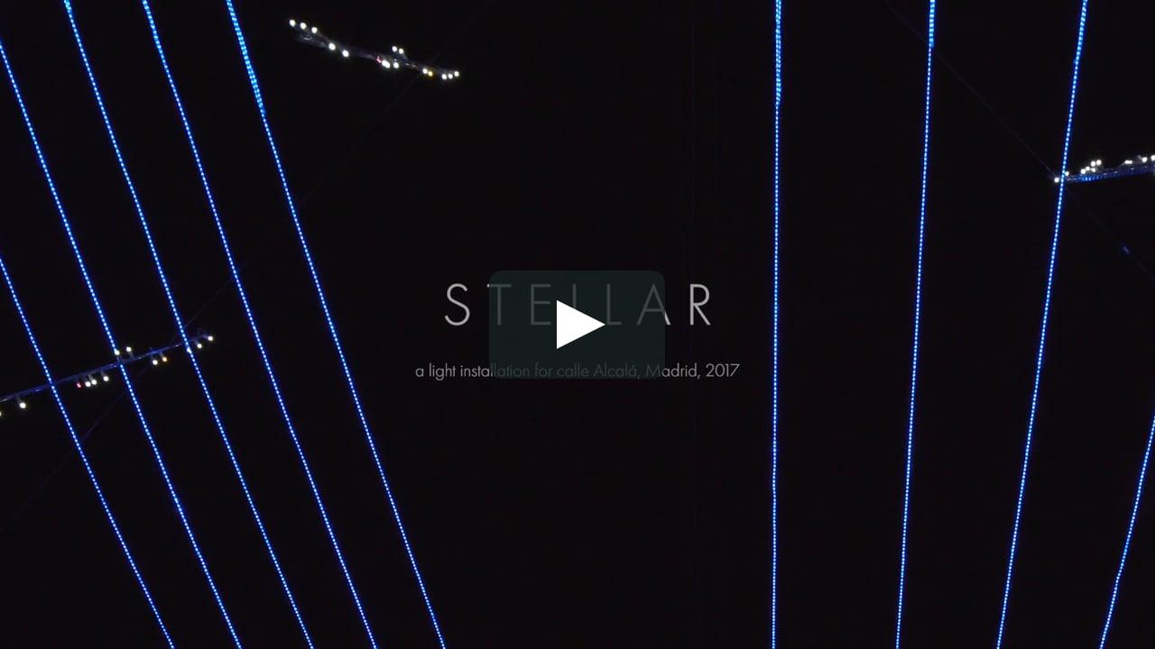 El estudio Brut Deluxe ha diseñadoStellar, la instalación luminosa con 6 km de ledes que coronan la emblemática calle madrileña entre Cibeles y la Puerta de Alcalá...