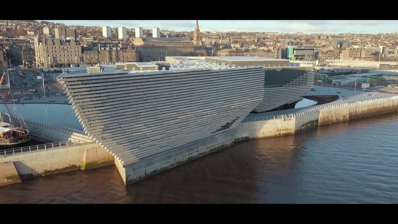 Avanza la construcción de la sede escocesa del Museo Victoria & Albert en la ciudad de Dundee, cuyo diseño del japonés Kengo Kuma está inspirado en los acantilados de la costa este de Escocia.