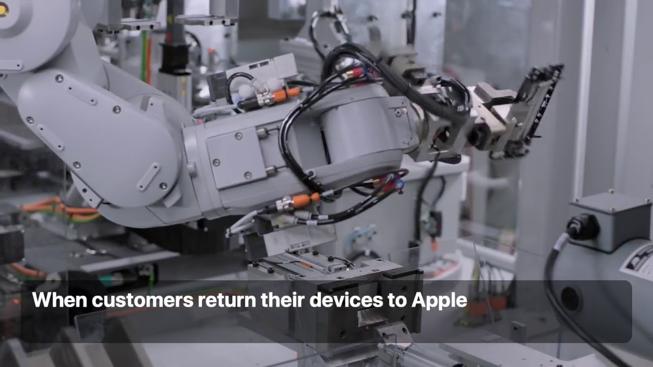 Apple's disassembly robot, Daisy, can take apart up to 200 iPhone devices per hour recovering high-quality materials that other recyclers can't. When costumers return their devices to Apple...