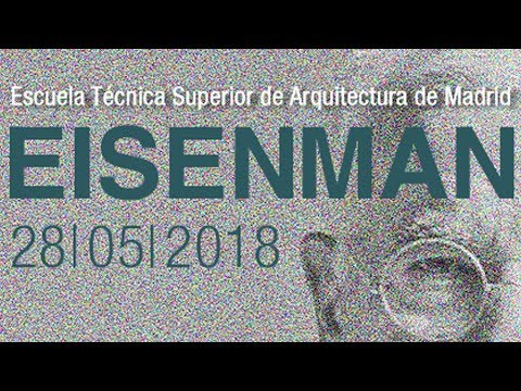 The lecture given by Peter Eisenman, titled 'On the Problems of Digital Architecture,' is part of the qualifying university master's degree program of the Madrid School of Architecture.