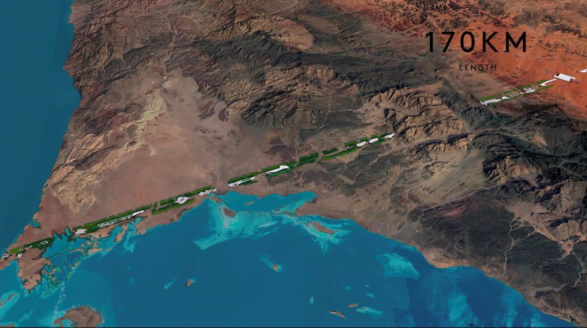 'The Line', una ciudad lineal en Arabia Saudí