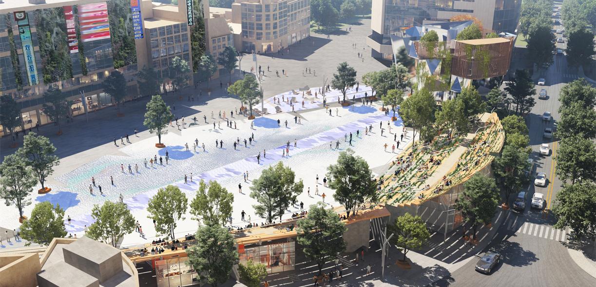 Renovación de la plaza del Siglo de Shanghái