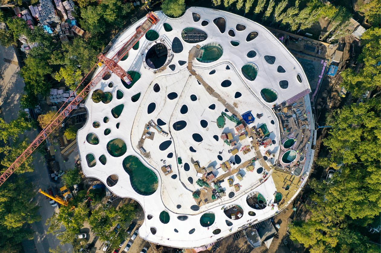 Finalizada la estructura de la Casa de la Música Húngara en Budapest