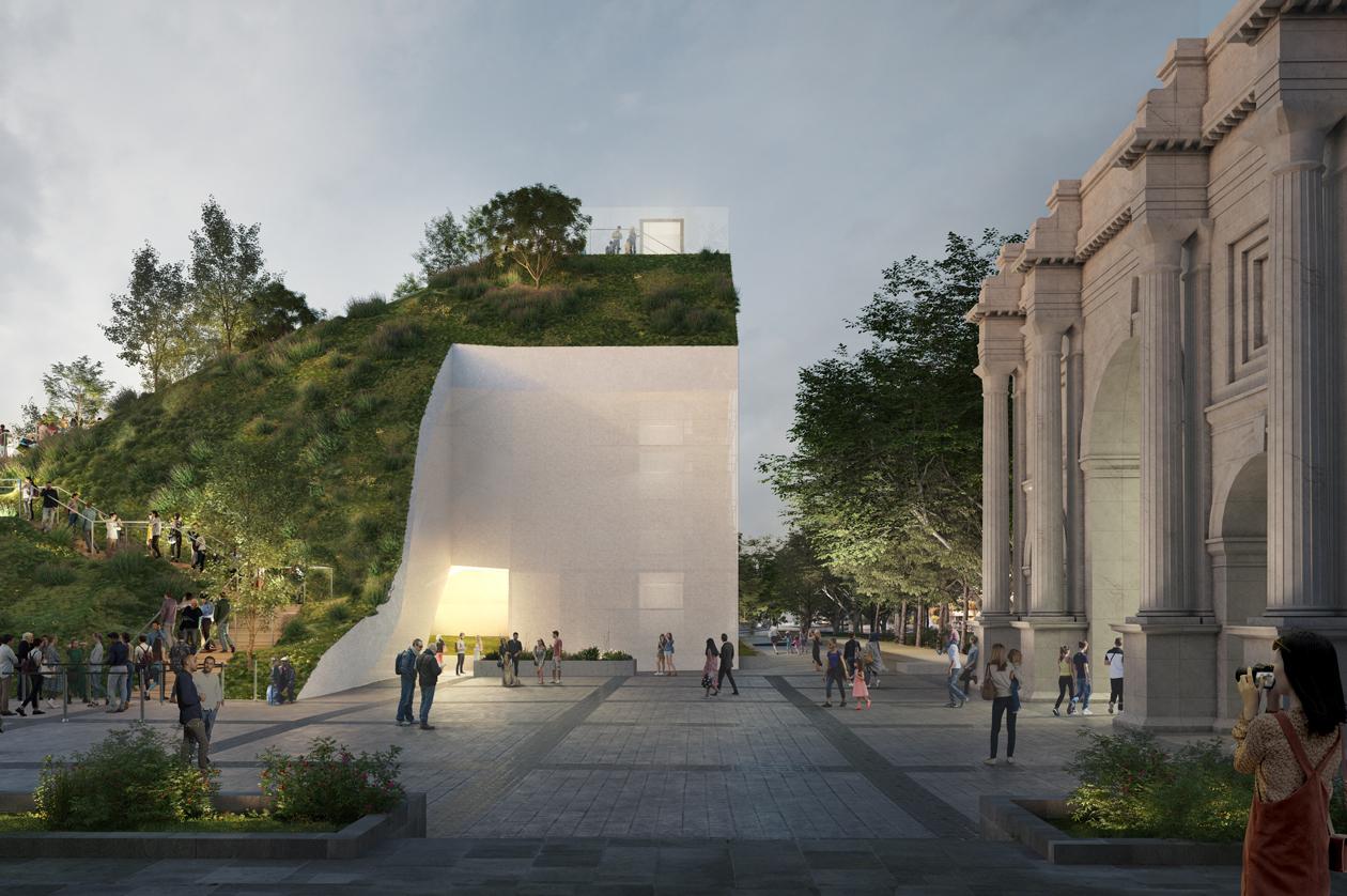 Instalación temporal Marble Arch Hill en Londres