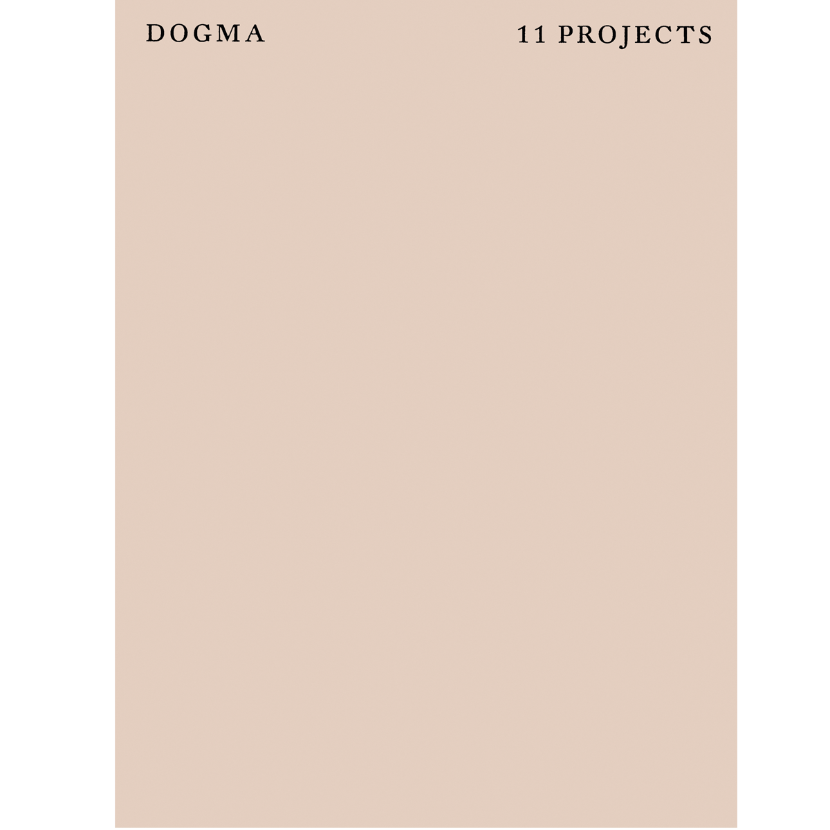 Dogma. 11 Projects
