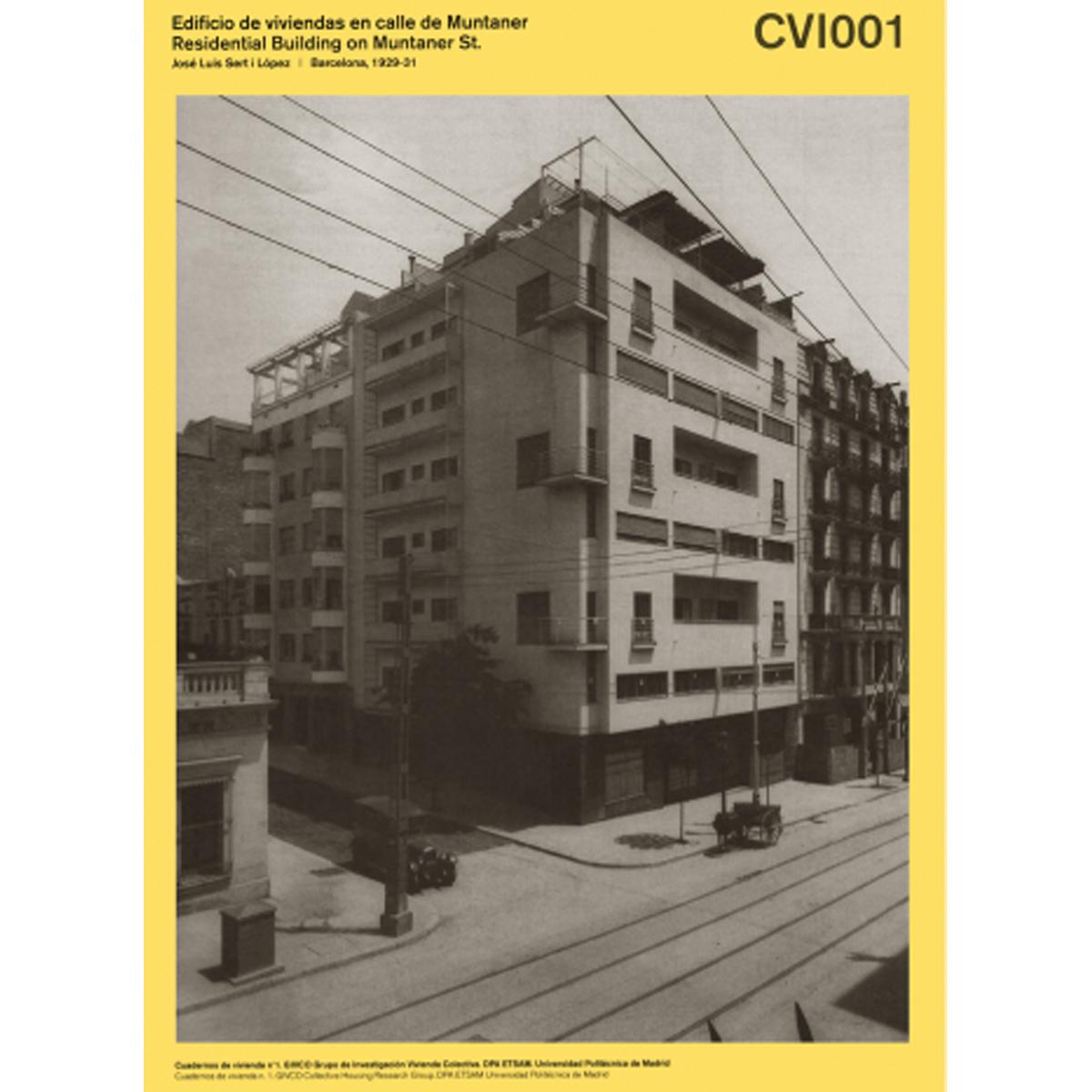 Cuadernos de vivienda: Edificio de viviendas en calle de Muntaner