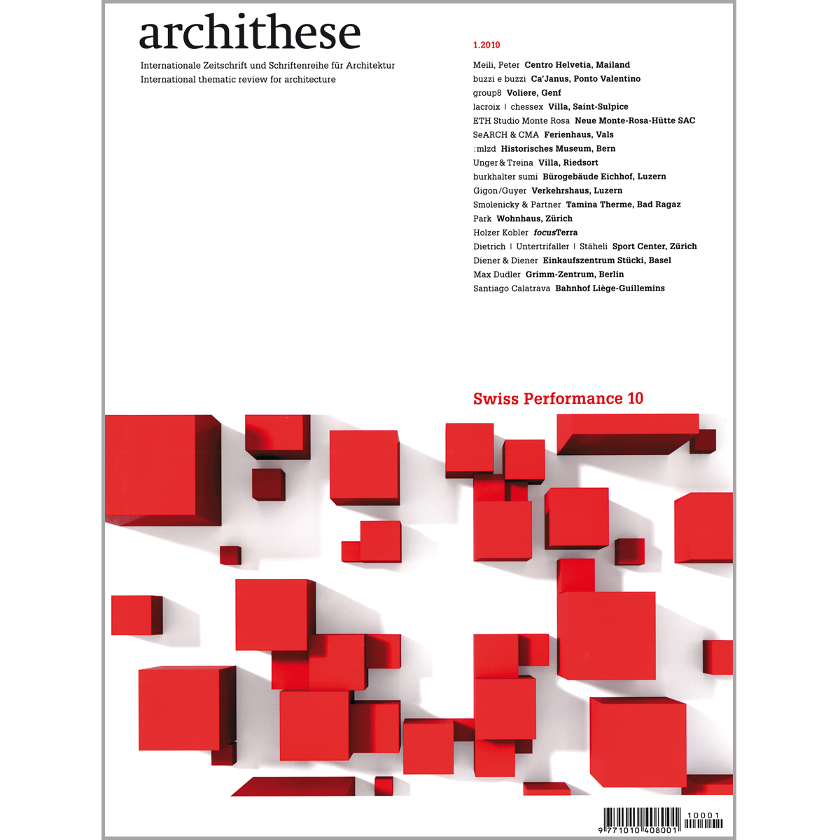 Archithese: Swiss Performance 10