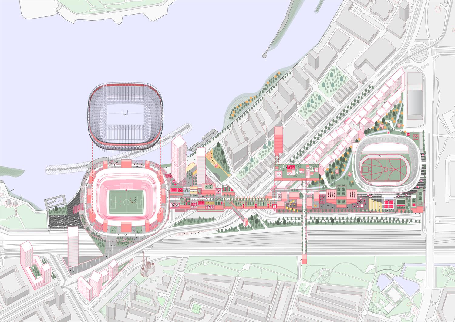 New Feyenoord Stadium In Rotterdam Oma Office For Metropolitan Architecture Arquitectura Viva