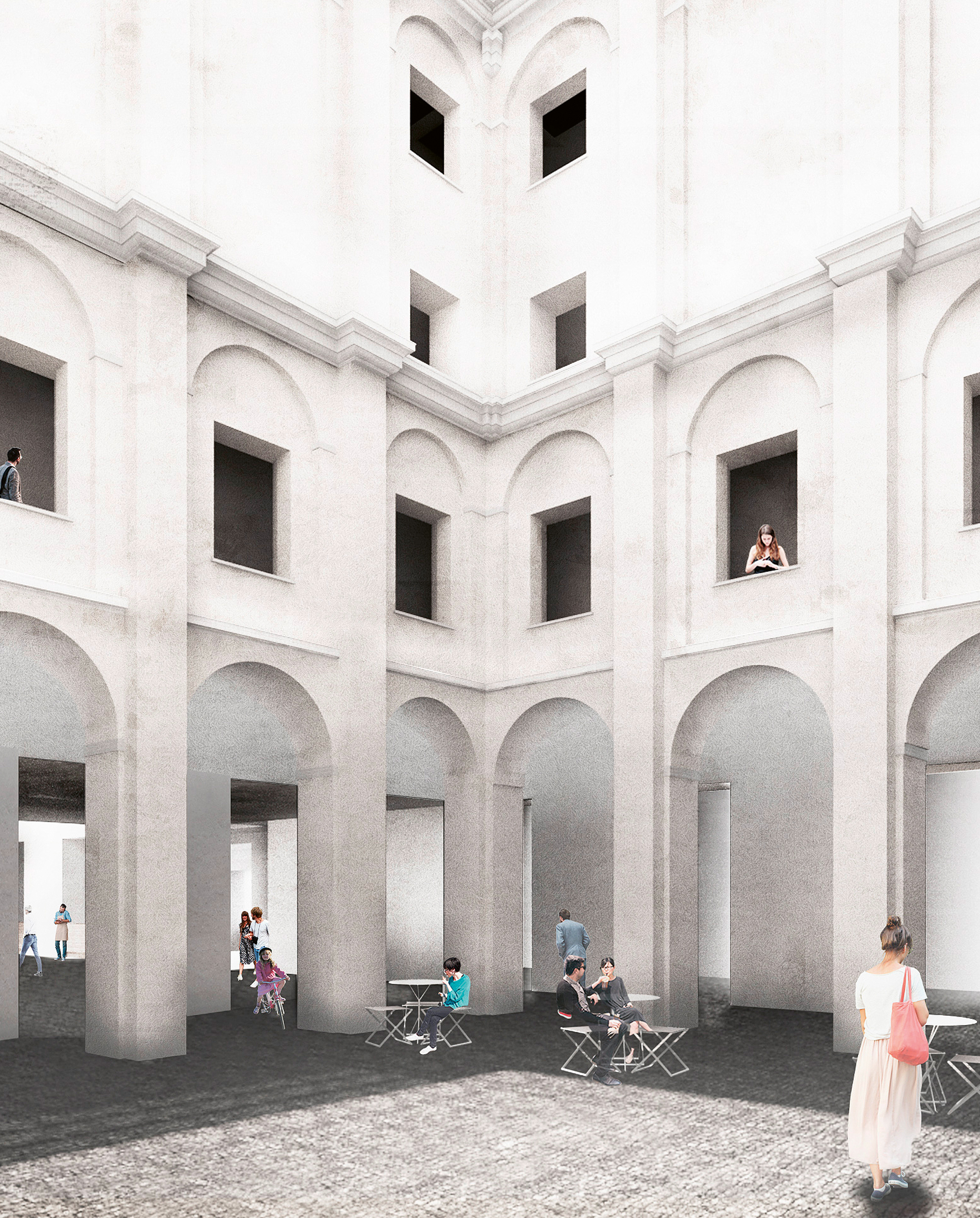 Recovery of the Old Hospital of San Sebastián, Badajoz (project stage)