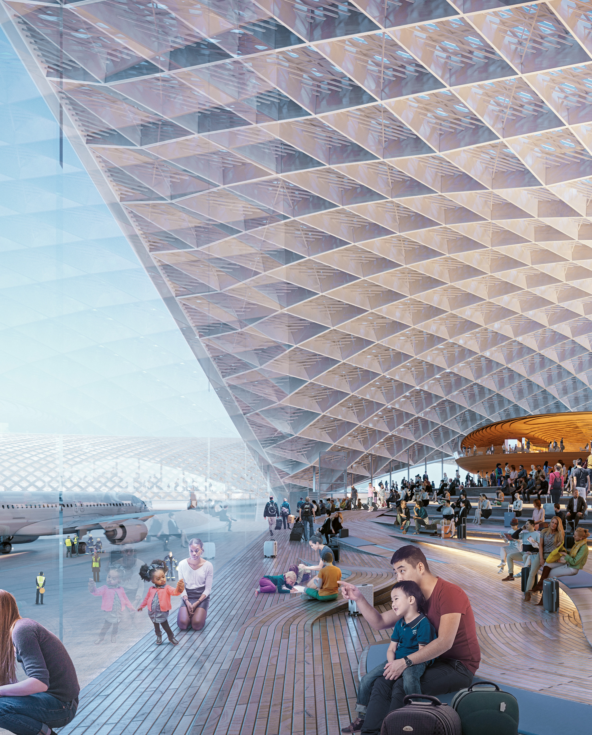 O'Hare International Airport Expansion, Foster + Partners, Epstein, Moreno