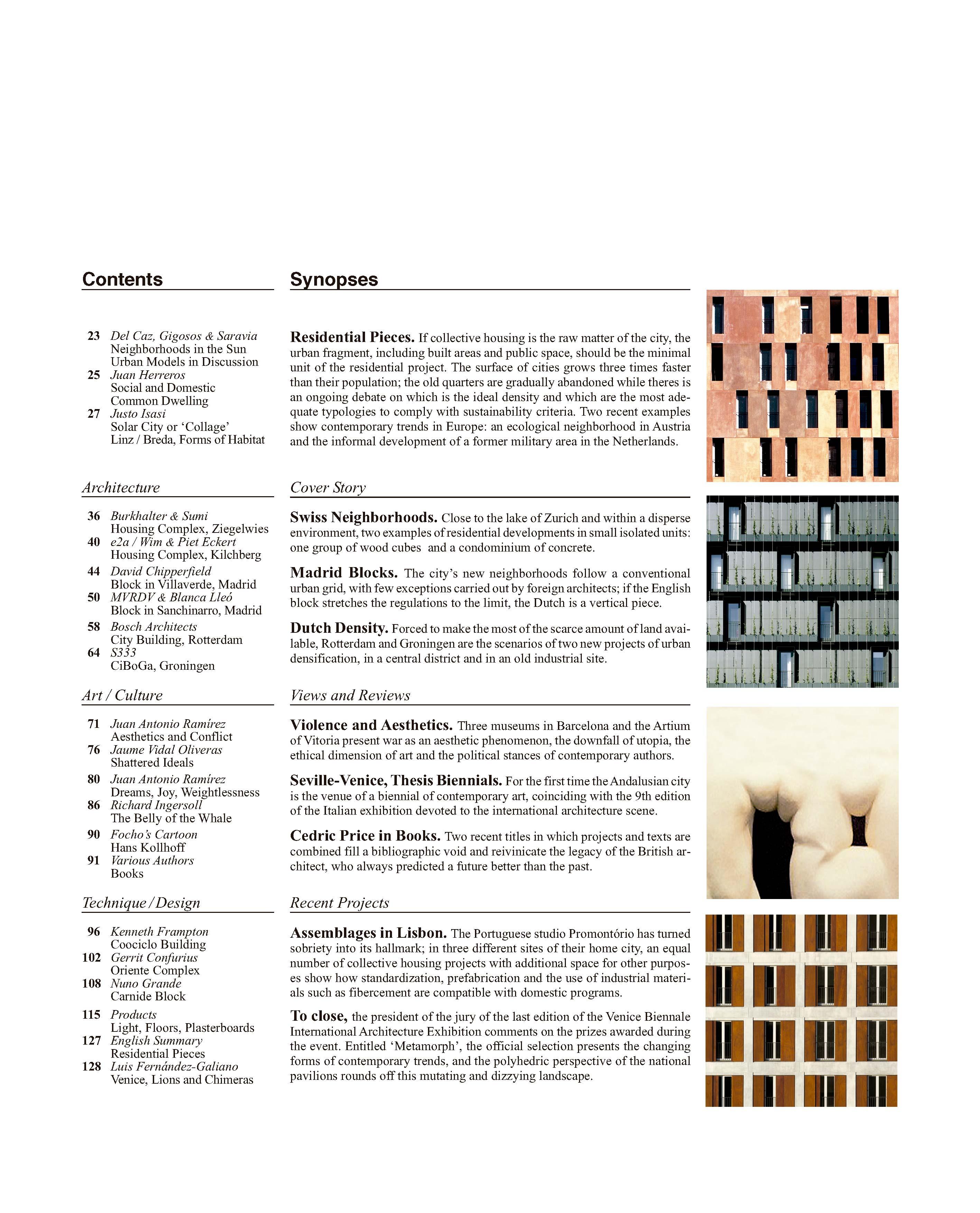 Piezas residenciales