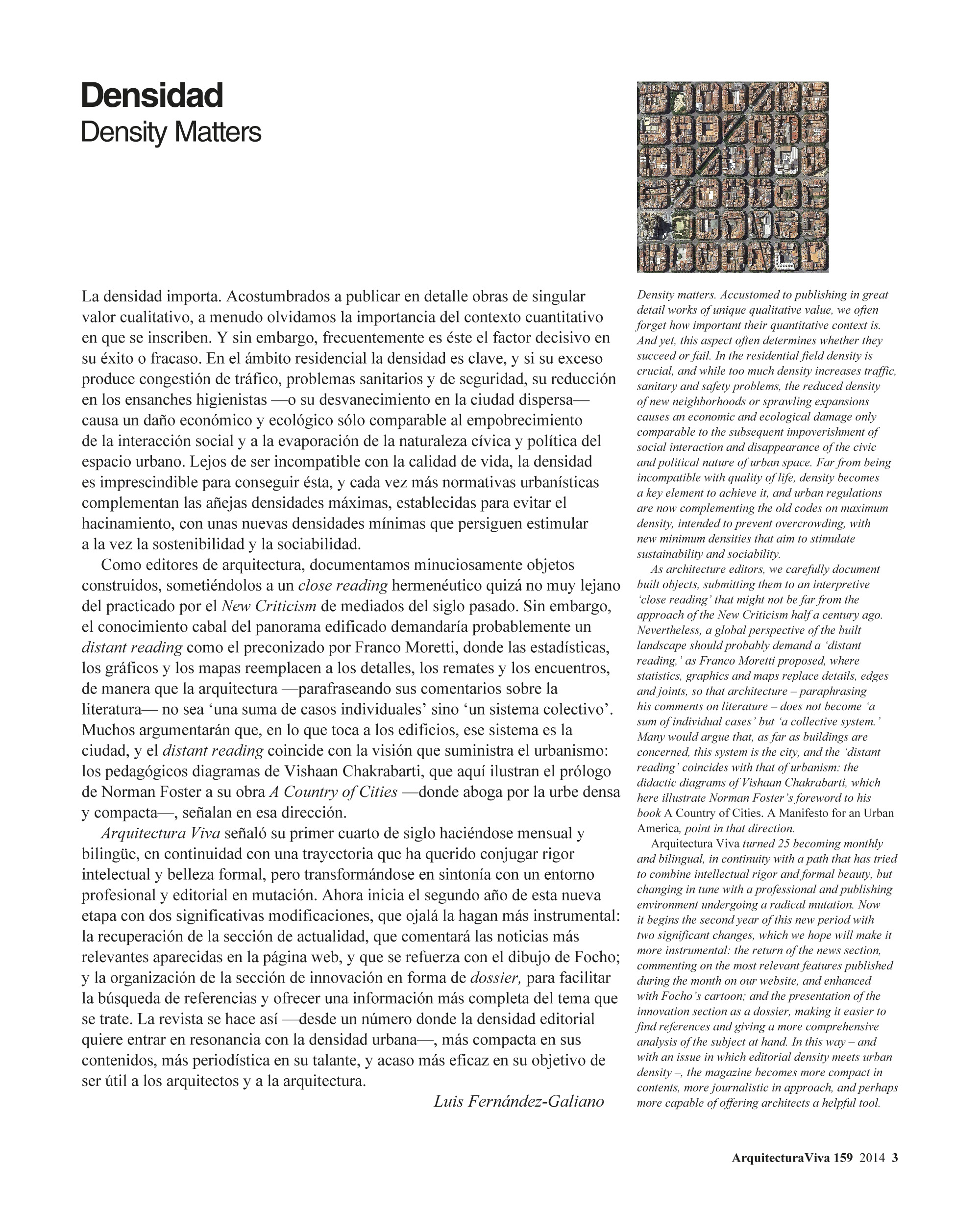 Density Matters