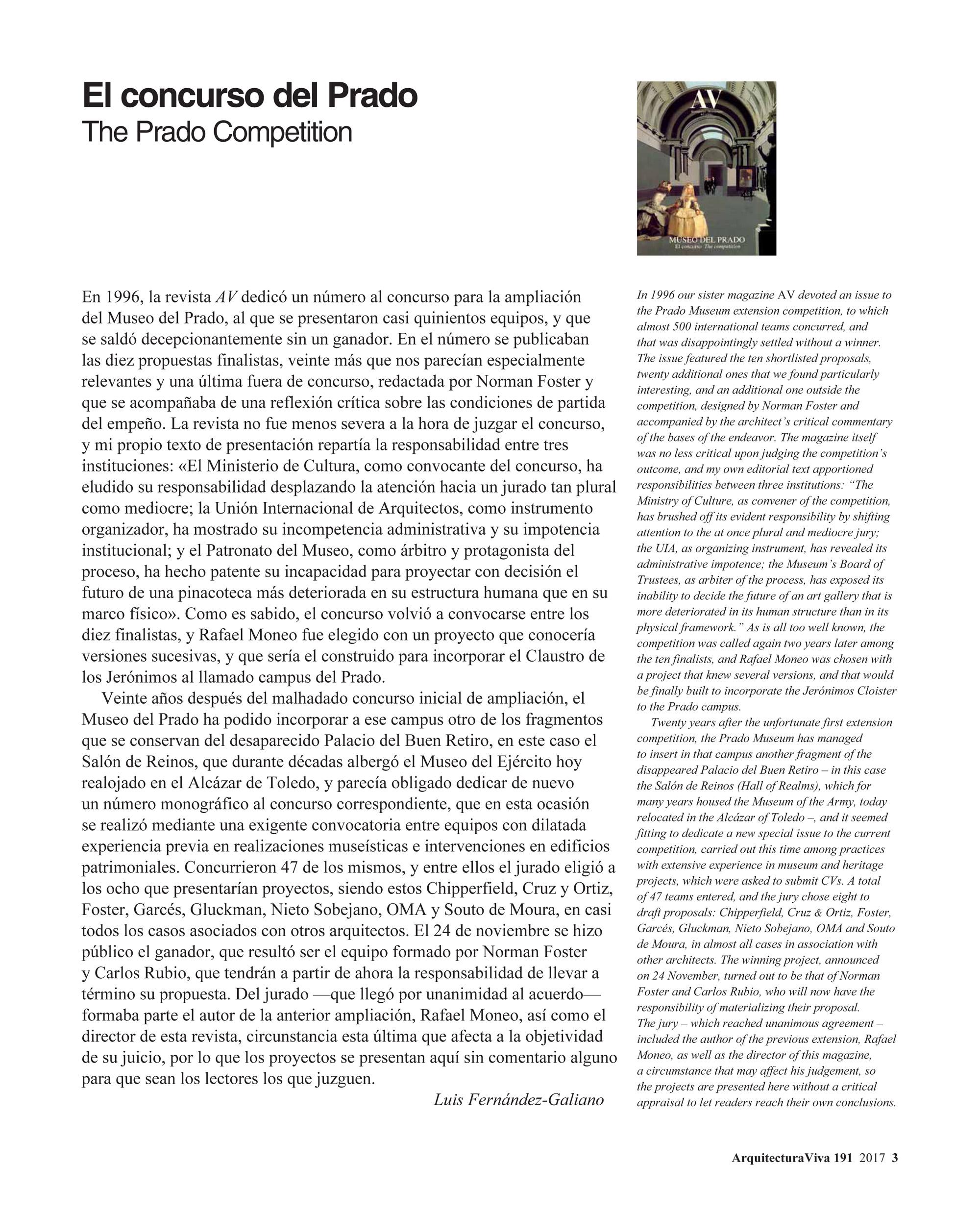 El concurso del Prado